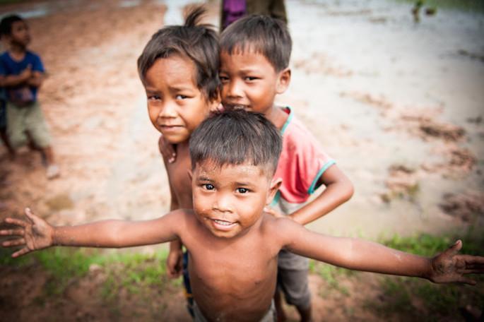 bambini della Cambogia