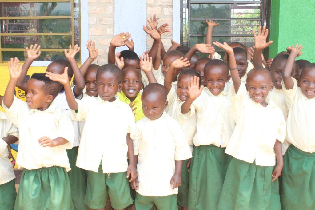 Bambini del centro ECD a Gishubi, Ruanda