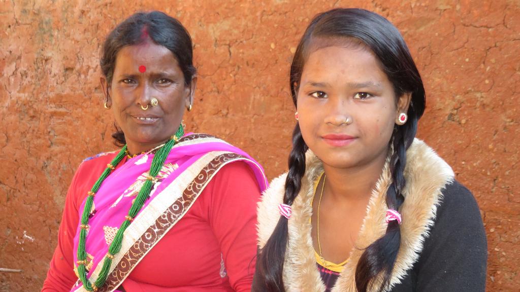 Maya con sua madre - Nepal